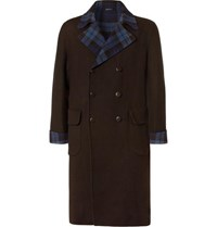 Rubinacci Double Breasted Double Faced Cashmere Overcoat Black