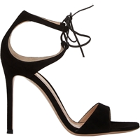 Gianvito Rossi Darcy Double Strap Sandals Black