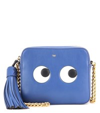 Anya Hindmarch Eyes Right Leather Cross Body Bag Blue