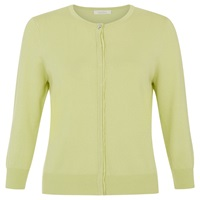 Kaliko Grosgrain Trim Cardigan Light Green