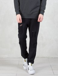 Black Scale Barfield Distressed Pants
