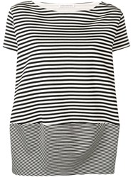 Stefano Mortari Striped Oversized T Shirt Black