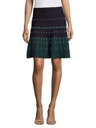 Yigal Azrouel Cord Stitched A Line Skirt Forest Multi