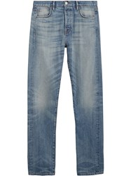 Burberry Relaxed Fit Washed Japanese Selvedge Denim Jeans Blue