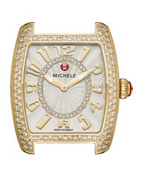 Michele 16Mm Urban Mini Diamond Watch Head Gold
