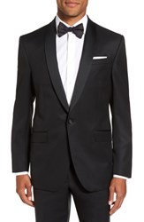 Ted Baker Men's London Trim Fit Wool And Mohair Dinner Jacket Black