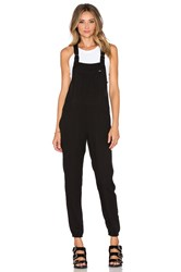 Obey Fairfield Overalls Black