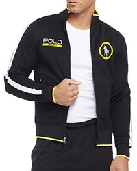 Ralph Lauren Polo Sport Cotton Blend Pique Track Jacket Polo Black