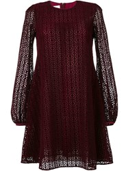 Giamba Laser Cut Layer Dress Purple