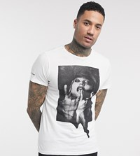 Religion Tall Graphic Print T Shirt In White