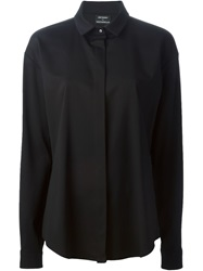 Anthony Vaccarello Classic Collar Shirt Black