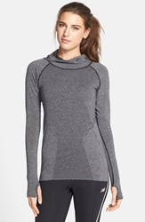 Women's New Balance 'Premium Made For Movement' Seamless Hoodie Black