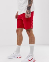 Pull And Bear Jogger Shorts In Red Red