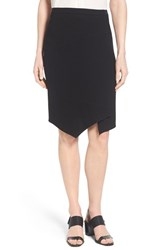 Women's Elie Tahari 'Minka' Asymmetrical Faux Wrap Skirt Black