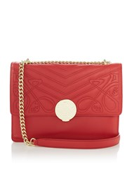 Biba Rosa Shoulder Leather Bag Red