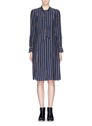Frame Denim 'Le Shirt Tie' Stripe Silk Dress Multi Colour