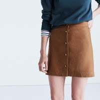 Madewell Button Front Skirt