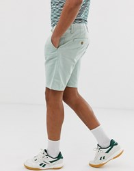 Blend Of America Cotton Linen Mix Shorts In Green