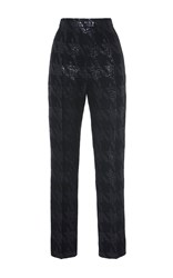 Martin Grant Brocade Houndstooth Slim Pant Navy