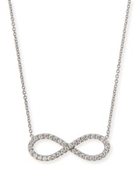 18K White Gold Diamond Infinity Necklace Roberto Coin