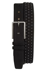 Men's Mezlan Studded Suede Belt