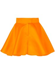 Talbot Runhof Nieve Shorts Silk Yellow Orange