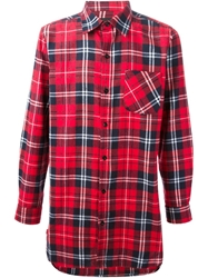 Les Artists Les Art Ists 'Rocky' Oversize Plaid Shirt Red