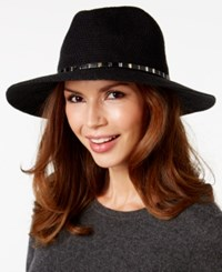 Inc International Concepts Mixed Metallic Packable Panama Hat Only At Macy's Black