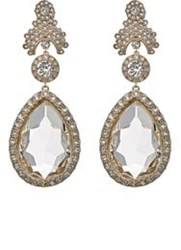Givenchy Statement Clip On Drop Earrings White