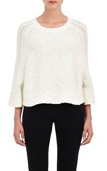 Tess Giberson Crop Sweater White