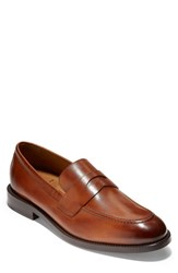 Cole Haan American Classics Kneeland Penny Loafer British Tan Leather