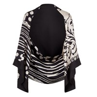 Bianca Elgar Sheldonean Reversible Bolero Jacket Black White