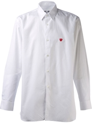 Comme Des Garcons Play Classic Button Up Shirt White