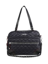 M Z Wallace Quilted Crosby Satchel Black