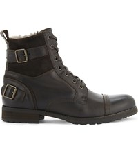 Aldo Gerrade Leather Ankle Boot Brown