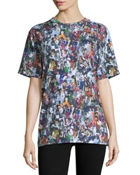 Opening Ceremony Short Sleeve Girl Collage Print T Shirt Black Multi Size L