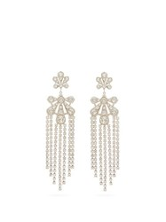 Paco Rabanne Palm Pendant Small Crystal Clip Earrings Crystal