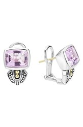 Lagos Women's 'Caviar Color' Semiprecious Stone Stud Earrings Rose De France