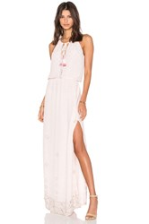 Tessora Keyhole Maxi Dress Blush