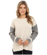 Blank Nyc Beige Sweater With Detailed Sleeves In Can't Afford This Can't Afford This Women's Sweater