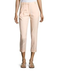 Carven Cropped Crepe Pants Beige Nude