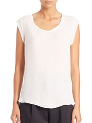 3.1 Phillip Lim Silk Muscle Tee White
