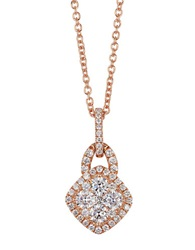 Levian Diamond And 14K Yellow Gold Pendant Necklace Rose Gold