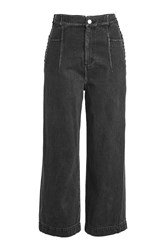 3.1 Phillip Lim Wide Leg Jeans With Lace Up Sides Grey