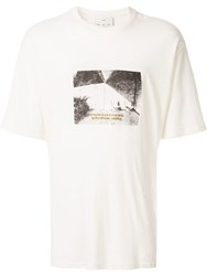 Song For The Mute Oversized Photo Print T Shirt White