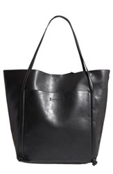 Sole Society Harley Faux Leather Tote Black