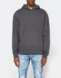 John Elliott Oversized Cropped Hoodie In Charcoal