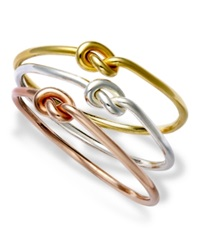 Studio Silver Sterling Silver Rings Set Multi Tone Knot Rings
