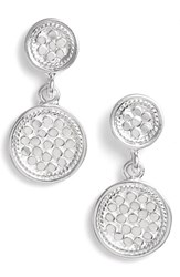 Women's Anna Beck 'Gili' Double Disc Earrings Silver