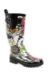 Sakroots Women's 'Rhythm' Waterproof Rain Boot Optic Peace